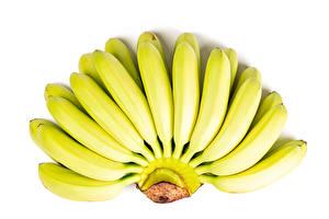 Обои Бананы Вблизи Белом фоне