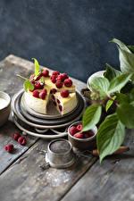 Обои Торты Малина Доски Дизайн Пища