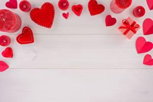 Фотографии Свечи День всех влюблённых Сердце Шаблон поздравительной открытки Доски
