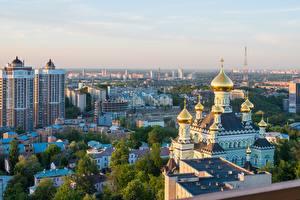 Обои Церковь Киев Украина Города картинки