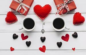 Картинки Кофе День всех влюблённых Сердце Зерна