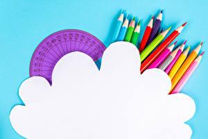 Обои Цветной фон Карандаш Разноцветные Шаблон поздравительной открытки