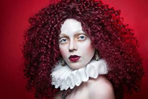 Фотография Кудри Рыжие Волос Мейкап девушка