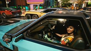 Фото Киберпанк 2077 Девушки Автомобили