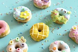 Фото Пончики Сахарная глазурь Продукты питания