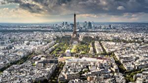 Обои Франция Дома Сверху Париже Города