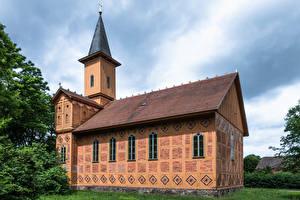Картинки Германия Церковь Башня church Dabelow