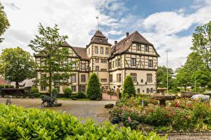 Фотографии Германия Дома Ландшафтный дизайн Neuenheerse Города