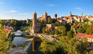 Фото Германия Дома Река Мосты Bautzen Saxony город