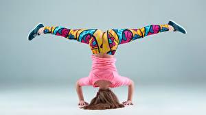 Обои Гимнастика Ног спортивный Девушки