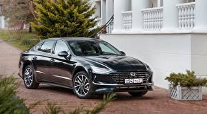 Фотографии Hyundai Седан Черный Sonata, RU-spec, 2019 машины