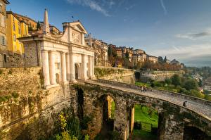 Фотография Италия Мосты Alta Citta, Bergamo, Lombardy город