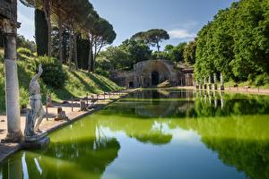 Обои Италия Скульптура Парк Villa Adriana, Tivoli Города