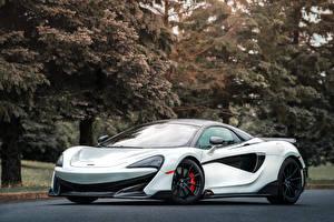 Обои Макларен Белая 2020 600LT Spider авто