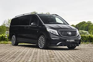Фотографии Mercedes-Benz Минивэн Черных 2020 Klassen V-Klasse Lang