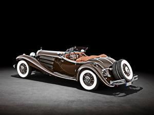 Картинки Mercedes-Benz Ретро Родстер Коричневый 500 K Special Roadster (W 29), 1934 машины
