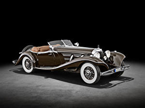 Обои для рабочего стола Mercedes-Benz Ретро Родстер Коричневая 500 K Special Roadster (W 29), 1934 Автомобили