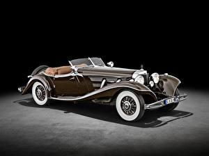Фото Mercedes-Benz Ретро Родстер Коричневая 500 K Special Roadster (W 29), 1934 Автомобили