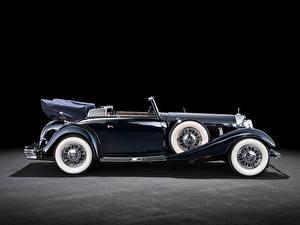 Картинки Мерседес бенц Винтаж Кабриолет Сбоку 500K Cabriolet B (W29), 1934–36 автомобиль