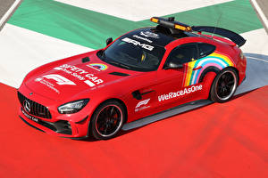 Фотографии Mercedes-Benz Тюнинг Красный 2020 AMG GT R F1 Safety Car машина