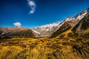 Фото Новая Зеландия Парки Гора Mount Cook National Park Природа