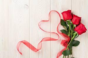 Картинка Розы День всех влюблённых Сердце Доски Шаблон поздравительной открытки цветок
