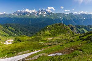 Фотографии Россия Горы Mount Chugush Природа