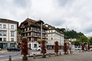 Фото Швейцария Здания Улиц Lucerne город