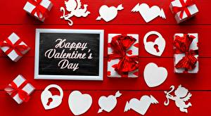 Картинка День всех влюблённых Сердечко Слова Подарок