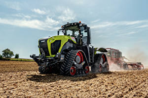 Картинка Сельскохозяйственная техника Поля Трактор Claas Xerion 5000 Trac TS, 2019-