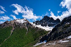 Картинка Аргентина Гора Небо Облачно Bariloche, Patagonia Природа