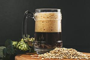 Обои Пиво Хмель Кружка Пеной Зерно Пища