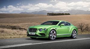 Фото Bentley Купе Дорогая Зеленая Continental GT Speed, 2015
