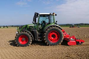 Картинка Поля Сельскохозяйственная техника Тракторы Сбоку Fendt 516 Vario, 2012