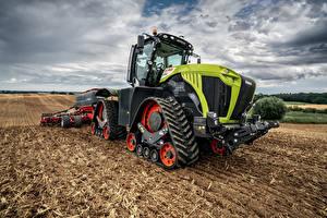 Картинка Сельскохозяйственная техника Поля Тракторы Claas Xerion 5000 Trac TS, 2019–