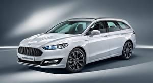 Фотография Ford Универсал Белый Mondeo, Turnier Vignale, 2016 машины
