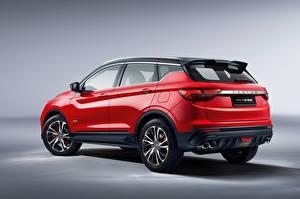Фотографии Geely Кроссовер Красных Металлик Proton X50, 2020 Автомобили