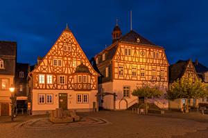 Картинка Германия Здания Городская площадь Kirchberg город
