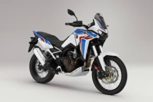 Картинки Honda - Мотоциклы Серый фон CRF 1000 D AFRICA TWIN, 2020