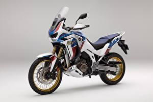 Картинки Honda - Мотоциклы Сером фоне CRF 1000 D AFRICA TWIN, 2020