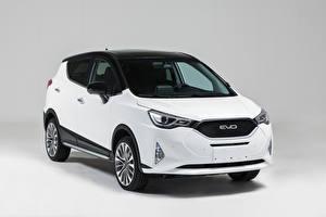 Фотографии Белый Металлик CUV Китайский JAC/ EVO4, 2020 Автомобили
