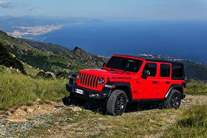 Фотографии Джип SUV Красный 2018-20 Wrangler Unlimited Rubicon Автомобили