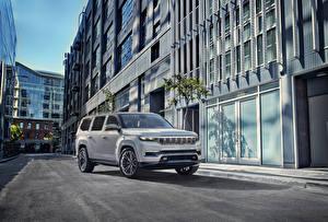 Картинки Jeep SUV Серый 2020 Grand Wagoneer Concept