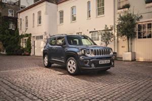 Картинки Jeep Внедорожник Серые Металлик 2020 Renegade Limited 4xe