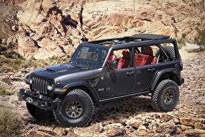 Картинки Jeep SUV Черных 2020 Wrangler Rubicon 392 Concept
