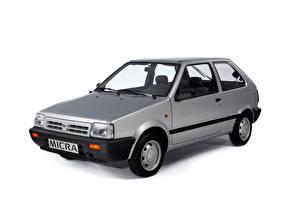 Картинка Nissan Серый Металлик Белом фоне Micra 3-door (K10), 1989–92 Автомобили