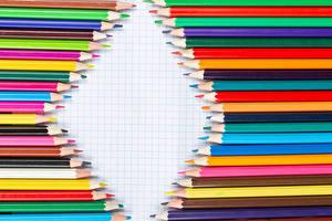 Картинки Карандаш Разноцветные Шаблон поздравительной открытки
