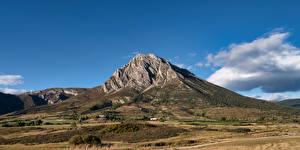 Картинка Испания Гора Небо Aragon Природа