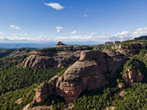 Фото Испания Гора Небо Скала Catalonia Природа