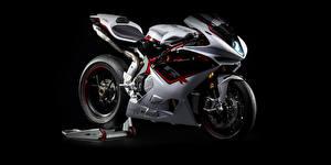 Обои Тюнинг Черный фон 2012-20 MV Agusta F4 RR мотоцикл